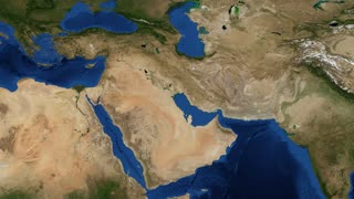 Middle East 4K- Pan The Middle East is a region that roughly encompasses a majority of Western Asia and Egypt. The term is used as a synonym for Near East, in opposition to Far East.