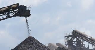 Mining industry quarry gravel excavator conveyor machinery