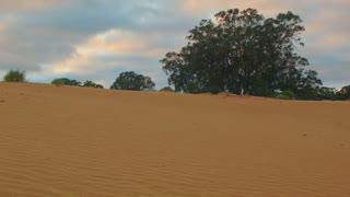 Morning clouds over Sand dune desert outback Australia landscape