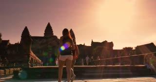 Morning sunrise Angkor Wat Cambodia ancient civilization temple
