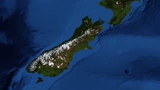 New Zealand from space slow tilt
