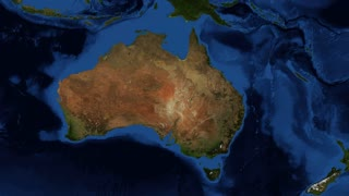 NSW- New South Wales from space zoom