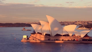 Opera House Sydney Harbour Australia Sunset City Landscape