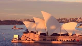 Opera House Sydney Harbour Australia Sunset City Landscape