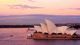 Opera House Sydney Harbour Australia Sunset