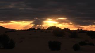 Outback Australia desert landscape sunset timelapse