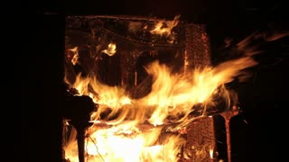 Piano Burning Musical Instrument Background - Fire
