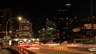 Rush Hour City Timelapse Traffic Commuter Congestion City Street Night  Streets of Sydney City Australia but would suit any generic city street scene.