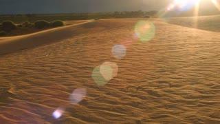 Sand dune dry desert outback Australia landscape timelapse