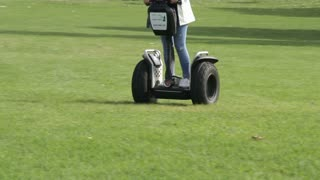 Segway group travel tour outdoors in park
