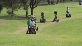 Segway tourist travel outdoor tour in park