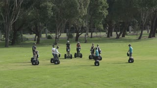 Segway travel technology guided group tour sightseeing outdoors