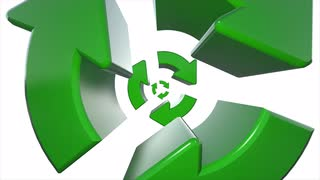 Spinning Recycle Recycling symbol logo animation