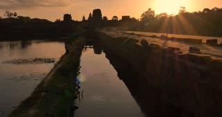 Sunrise Angkor Wat Cambodia ancient stone ruin temple