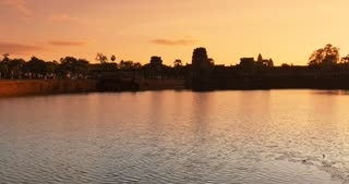 Sunrise Angkor Wat Cambodia ancient stone ruin temple