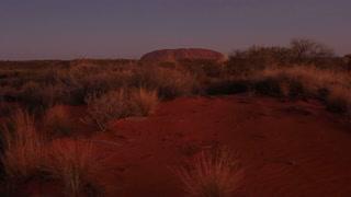 Sunset Uluru, Ayers Rock Landmark Outback Australian Red Desert Landscape