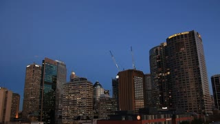 Sydney Australia city scape skyline timelapse. A popular tourisum destination.