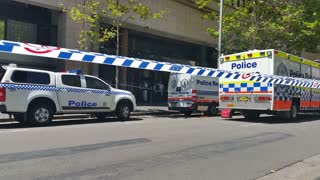 SYDNEY, AUSTRALIA - JANUARY 22, 2014: Terrorism in Australia, Suspicious object discovered on Sydney ferry that led to a Circular Quay lockdown by the NSW Police Force.