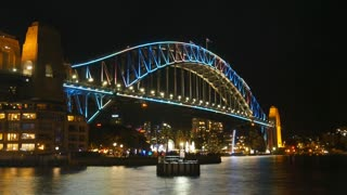SYDNEY, AUSTRALIA - JUNE 2016: Sydney Harbour Bridge Night