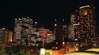 Sydney City Building Skyline Night Timelapse Vivid Festival