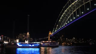 Sydney Harbour Bridge Australia Night City Landscape