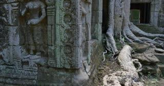 Ta Prohm temple of Angkor Wat Cambodia ancient stone ruin temple