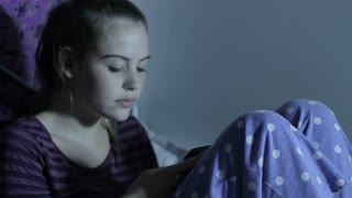 Teenage Girl on Phone Text Messaging Social Media