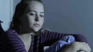 Teenage Girl Suffering Depression due to Internet Social Media