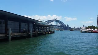 The Sydney Harbour Bridge and Sydney Opera House is located near Circular Quay, a harbour in Sydney, New South Wales, Australia on the northern edge of the Sydney central business district on Sydney Cove