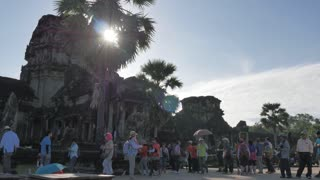 Time lapse Angkor Wat Cambodia ancient civilization temple
