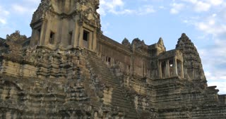 Tourist travel landmark of Angkor Wat Cambodia ancient civilization temple