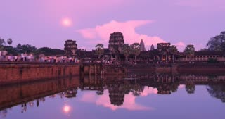 Twilight Angkor Wat Cambodia ancient civilization temple