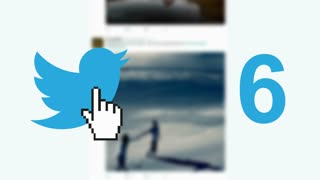 "Twitter social media message button ""tweets"" retweets counter hand cursor"
