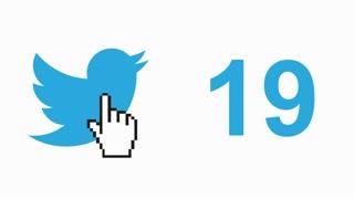 Twitter social media message button