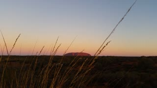 Uluru, Ayers Rock Landmark Outback Australian Red Desert Landscape Sunset