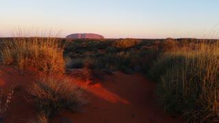 Uluru, Ayers Rock Landmark Outback Australian Red Desert Landscape Sunset
