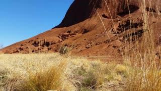 Uluru, Ayers Rock Landmark Outback Australian Red Desert Landscape