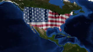 United States of Ameria - USA Map - from space 2