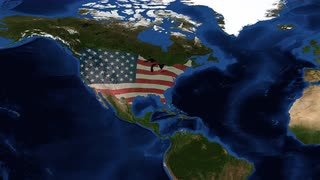 United States of Ameria - USA Map - from space