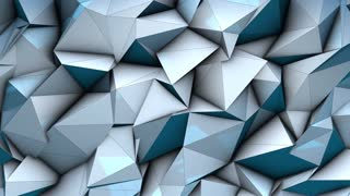 3D render graphic animation background low-poly futuristic
