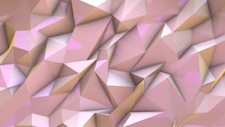3D render motion poly wallpaper futuristic geometric background pink