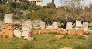 Agora of Athens overlooking Temple of Hephaestus or Hephaisteion