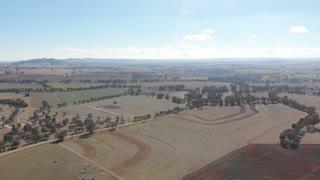 Agriculture Australia aerial livestock grazing rural farmland