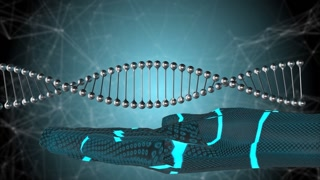AI Artificial intelligence Bio medical biotech research genetic DNA helix