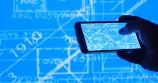 Architecture Technical Design Blueprints On Mobile Device