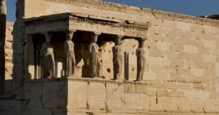 Athens Greece Athenian Acropolis temple of Erechtheion or Erechtheum