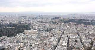 Athens Greece city scape - Parthenon Athenian Acropolis
