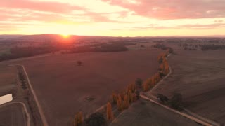 Australia aerial sunset drone footage rural country Australia