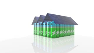 Battery storage for solar power a source of green electricity photovoltaic batte