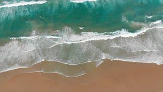 Beach aerial ocean seascape top view of seashore coast Australia